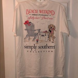 Simply Southern T-Shirt Beach Weekend Size M